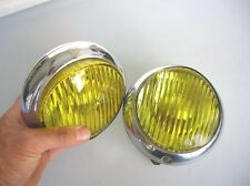 HELLA PORSCHE 356 VINTAGE YELLOW CHROME NEBELSCHEINWERFER FOG LAMP LIGHT 5 INCH