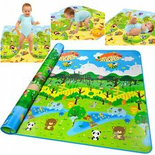 Large 2mx1.8m Baby Play Crawl Mat Kid Forest Flora Floor Activity Playmat Rug