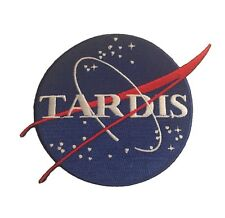 Doctor Who Tardis Blue Round Logo  Embroidered Iron On Patch