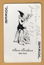1 Single Swap Playing Card JOKER #F64 CLOWN GIRL 1931 STERN BROS NY VINTAGE DECO