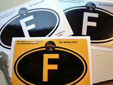 MATRA on F (France) oval car sticker 5in/125mm