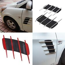 Car Shark Gills Exterior Decor Side Air Intake Flow Grille Vent Outlet JL