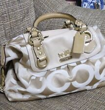 Coach-Madison-Signature-Op-Art-camel Sabrina-2-Way-Satchel-12947