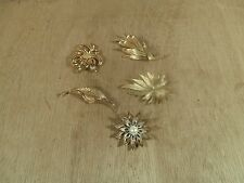 Vintage Lot of 5 Designer Brooches Sarah Coventry 2 - Coro Monet & Celebrity