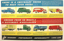 1940 Chevrolet Truck Model Year Sales Brochure Color Poster Pickup etc Features