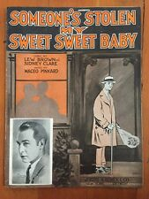 Black composer Someone's Stolen My Sweet Baby sheet music MACEO PINKARD 1926