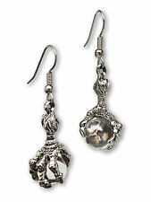 Dragon Claw Earrings Holding Clear Crystal Balls #932