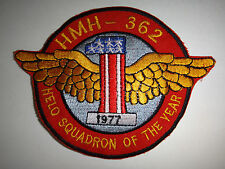 USMC Patch Heavy Helicopter Squadron HMH-362 HELO SQUADRON OF THE YEAR 1977