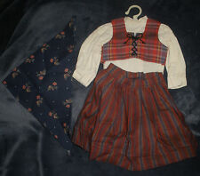 American Girl Doll Kirsten Swedish Dirndl Outfit Pleasant Company Retired