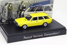 VOLKSWAGEN VW PASSAT VARIANT I. Gen. anno di costruzione 1974 GIALLO 1:43 Minichamps