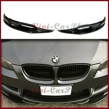 3D Look Carbon Fiber Front Bumper Two Side Splitter Lip Fit 08-13 E92 E93 M3 Use