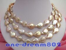 """50""""20mm baroque pink  freshwater pearl necklace"""