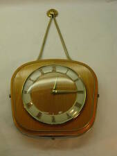 VINTAGE CLOCK MAUTHE GERMAN RARE MID CENTURY MODERN WALL HOUR STRIKE MECHANICAL