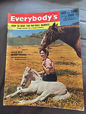 HUGE 31 MAY 1958 EVERYBODY'S MAGAZINE - HOW TO LIVE WITH A CHIMPANZEE