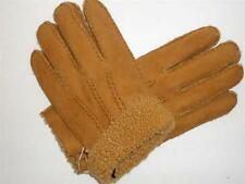 Mens Portolano Genuine Shearling Lined Genuine Sheepskin Leather Gloves,Rust,M/L