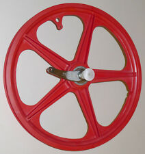 TROXEL TRACKMASTER REAR MAG WHEEL OLD-SCHOOL FREESTYLE BMX RED VINTAGE 1984 NOS