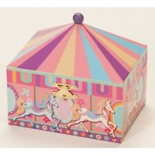BNIB CHILDRENS GIRLS EQUESTRIAN HORSE PONY CAROUSEL JEWELLERY BOX MELE PINK