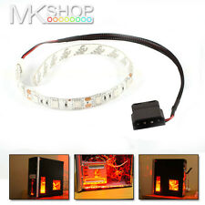 2 x 30cm Red 18 LED Modding PC Case LED Strip 5050 SMD Light Molex Connector