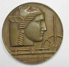 MEDALLIC ART CO MEDAL 1900-1950 50th ANNIVERSARY LATE DECO CAT HEAD