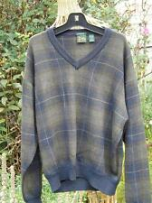 Bobby Jones Intarsia Style 100% Wool Crew Neck Golf Sweater Size XL