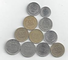 11 DIFFERENT COINS from COLOMBIA (5 TYPES/3 DENOMINATIONS/DATING 2003-2013) #2