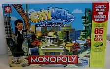 Cityville Monopoly board game zynga build new skyscrapers NIB sealed