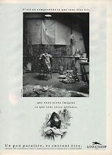 Publicité Advertising  1989  LONGCHAMP maroquinerie sac à main cuir accessoires