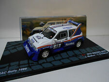 MG METRO 6R4 RALLY RAC 1986 MC RAE EAGLEMOSS IXO 1/43