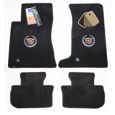 2011-2014 Cadillac CTS Coupe AWD Floor Mats - Ebony Black w/ Grommets - USA MADE