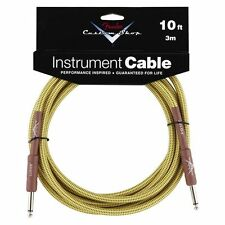 New Fender Custom Shop 10 Foot Tweed Instrument Guitar Cable! 10 ft Lead