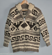 COWICHAN THICK WOOL KNIT THUNDERBIRD Sweater ZIP-UP COAT APRES SKI Lebowski S-M