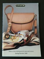 Coach 1989 Spring Preview 65-Page Catalog  HTF