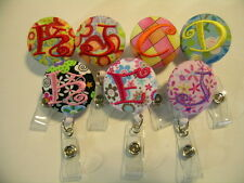 1 Personalized ID Retractable Badge Reel Pinch or Belt Loop Clips are available