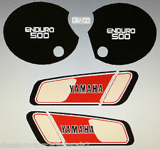 YAMAHA XT500 XT500D 1977 PAINTWORK DECAL SET