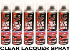 6 x Clear Lacquer Aerosol Spray Cans 300ml Cars & Vans Auto Spray Paint **New**