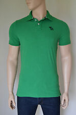 NEW Abercrombie & Fitch Baker Mountain Polo Shirt Green Blue Moose XL RRP £72