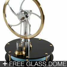 KONTAX Black Ultra Low Temp Stirling Engine ASSEMBLED + FREE Glass Dome