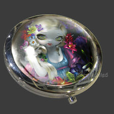 *FLORA* Strangeling Fantasy Art Compact Mirror By Jasmine Becket-Griffith