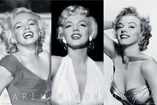 MARILYN MONROE POSTER ~ TRIPLE SMILE 24x36 Icon Celebrity Bernard Hollywood