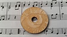 Wooden engraved Turn table eye shape 45 RPM adaptor for center spindle