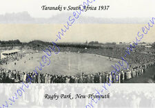RUGBY PARK, NEW PLYMOUTH, NZ 1937 TARANAKI v S AFRICA RUGBY AERIEL VIEW POSTCARD