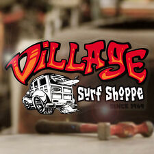 Village Surf Shop sticker decal hot rod Maui surf surfing Hawaii 5.5""