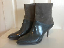 & OTHER STORIES £95 lovely grey ALL LEATHER & SUEDE rear zip ankle boots 41 UK 8