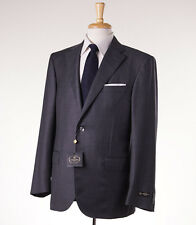 NWT $1975 CORNELIANI 'Leader' Medium Gray Stripe Wool Suit 46 R (Eu 56)