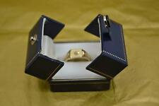 mans 9 ct gold signet ring diamond set hallmarked Tandy & Sons Chester 1951