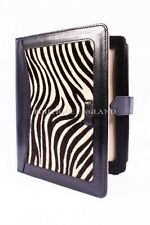 iPAD 2 3 & 4 BLACK & ZEBRA SKIN FUR Luxury Real Genuine Leather Cover Case Stand