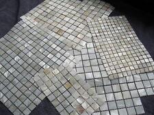 Perlmutt-Mosaik WEISS, ECHT!!!,Kein Glas  20x20 mit Fuge auf Matte 300x300 mm