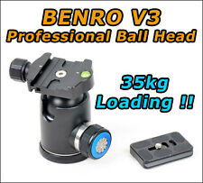 Genuine Benro V3 Ball Head & PU60 QR Plate *Upgrade of B3 *Registered Mail