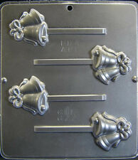 Wedding Bells with Bow Lollipop Chocolate Candy Mold Wedding  677 NEW