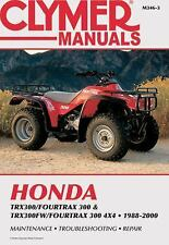 Honda TRX2300/FOURTRAX 300 and TRX300FW/FOURTRAX 300 4x4, 1988-2000 by Clymer...